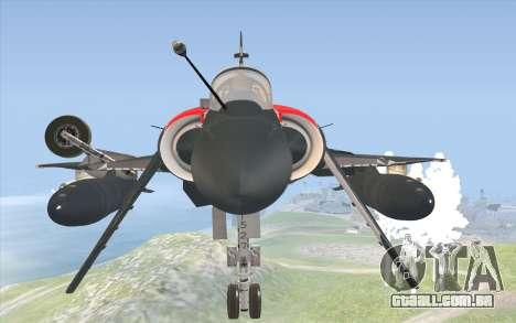 Dassault Mirage 2000-C para GTA San Andreas vista direita