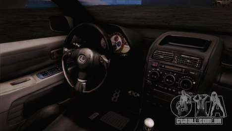 Toyota Altezza Sakura Miku Itasha para GTA San Andreas vista direita