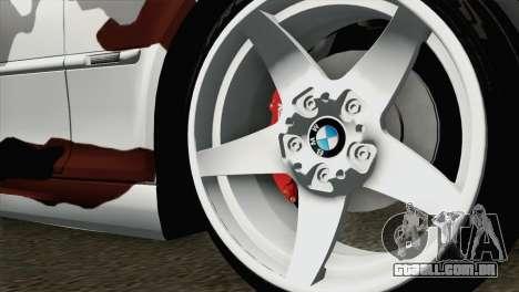 BMW M3 E46 Camo para GTA San Andreas traseira esquerda vista