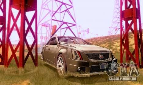 Cadillac CTS-V Sedan 2009-2014 para GTA San Andreas vista interior
