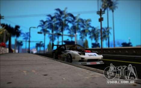 Nissan 240SX Monster Energy para GTA San Andreas vista traseira