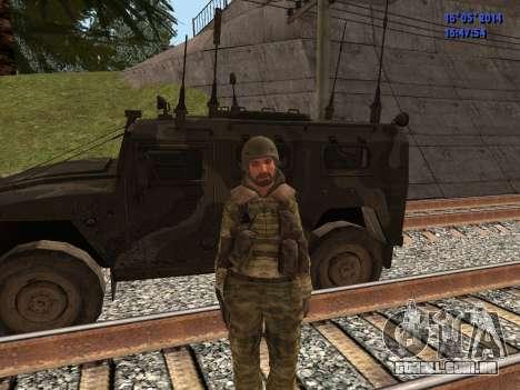 Militar camuflagem para GTA San Andreas por diante tela