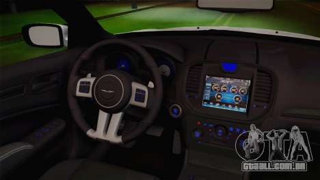 Chrysler 300 SRT8 Black Vapor Edition para GTA San Andreas vista direita