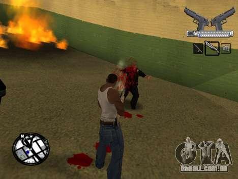 С-HUD por MoLoT para GTA San Andreas quinto tela