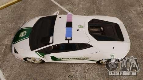 Lamborghini Huracan Cop [ELS] para GTA 4 vista direita