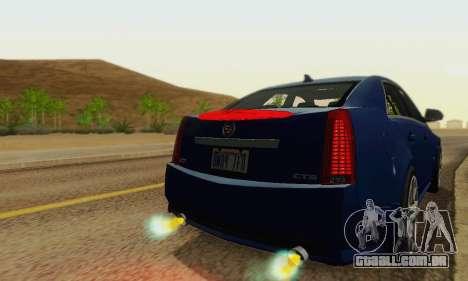 Cadillac CTS-V Sedan 2009-2014 para GTA San Andreas vista inferior