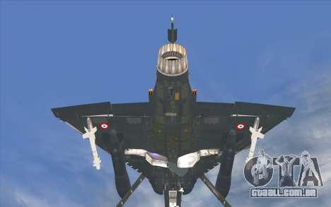 Dassault Mirage 2000-C para GTA San Andreas traseira esquerda vista