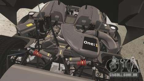 Koenigsegg One:1 [EPM] para GTA 4 vista interior