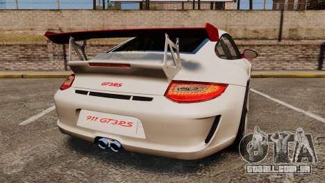 Porsche 997 Carrera GT3 RS para GTA 4 traseira esquerda vista