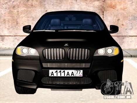BMW X6 Hamann para GTA San Andreas vista superior