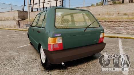 Fiat Uno para GTA 4 traseira esquerda vista