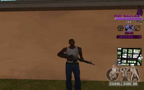 C-HUD The Ballas Gang para GTA San Andreas