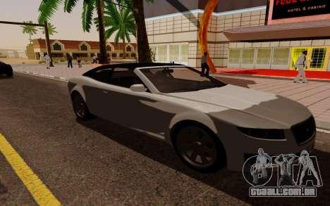 GTA 5 Lampadati Felon GT V1.0 para GTA San Andreas traseira esquerda vista