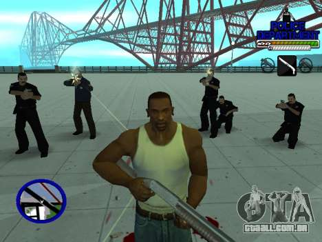 С-Hud Do Departamento De Polícia De para GTA San Andreas sexta tela
