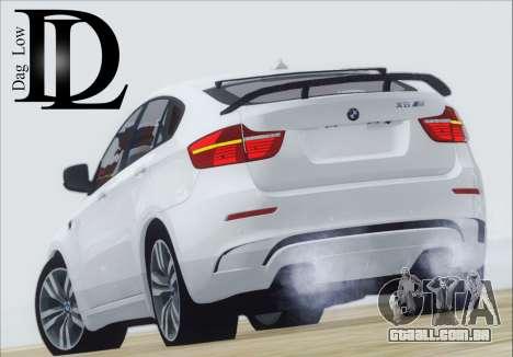 BMW X6 M 2013 Final para GTA San Andreas traseira esquerda vista