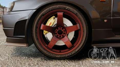 Nissan Skyline GT-R NISMO S-tune Amuse Carbon R para GTA 4 vista de volta