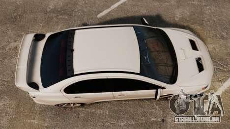 Mitsubishi Lancer Evolution X FQ400 (Cor Rims) para GTA 4 vista direita
