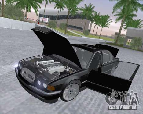 BMW 7-series E38 para GTA San Andreas vista interior