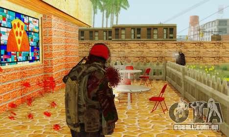 Blood On Screen para GTA San Andreas segunda tela