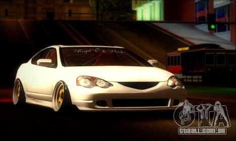 Acura RSX Stance para GTA San Andreas traseira esquerda vista