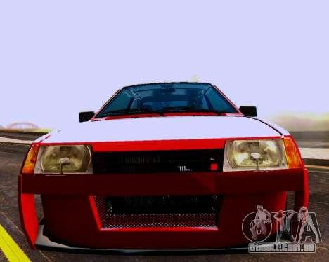 VAZ 2108 Tuneable para o motor de GTA San Andreas