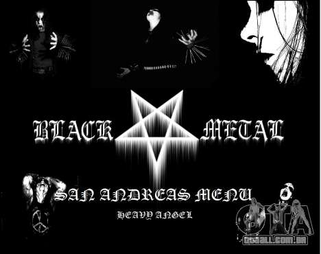 Black Metal Menu para GTA San Andreas