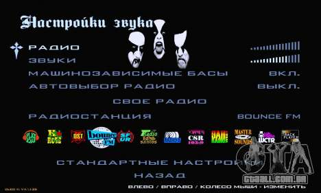 Black Metal Menu para GTA San Andreas sexta tela