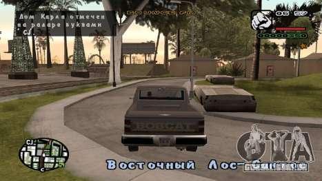 Nova fonte V.2 para GTA San Andreas segunda tela