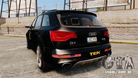 Audi Q7 TEK [ELS] para GTA 4 traseira esquerda vista