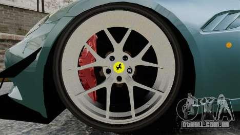 Ferrari California para GTA 4 vista de volta