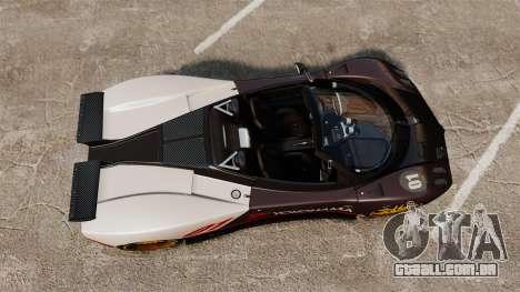 Pagani Zonda C12 S Roadster 2001 PJ4 para GTA 4 vista direita