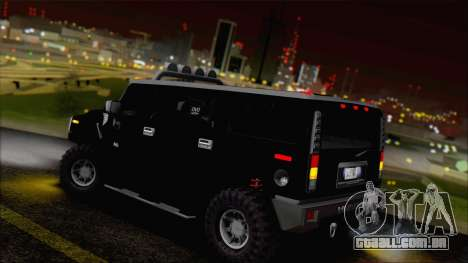 Hummer H2 Tunable para GTA San Andreas vista inferior