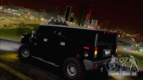 Hummer H2 Tunable para GTA San Andreas vista inferior