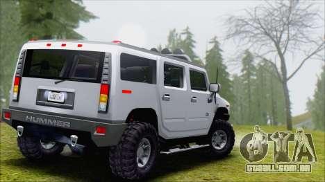 Hummer H2 Tunable para GTA San Andreas vista direita