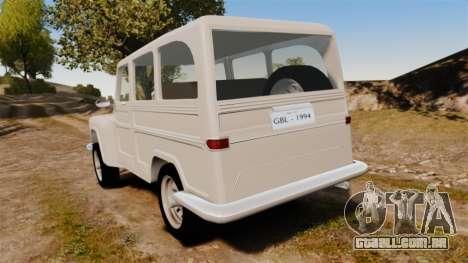Rural Willys para GTA 4 traseira esquerda vista