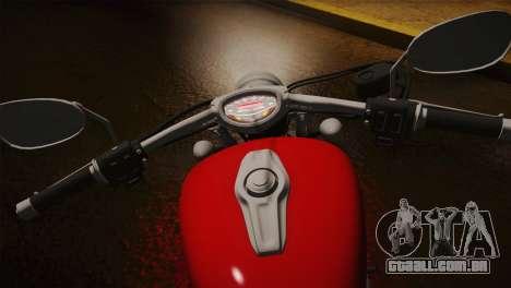 Yamaha Star Stryker 2012 para GTA San Andreas vista traseira