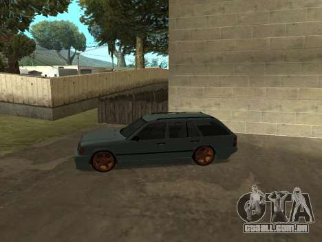 A Mercedes-Benz W124 Vagão para GTA San Andreas traseira esquerda vista