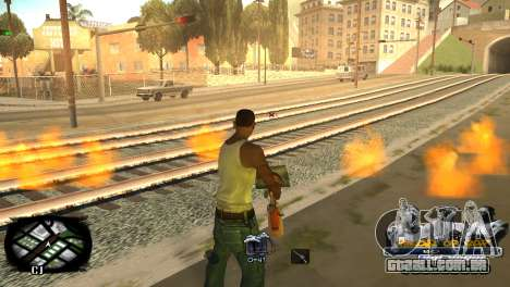 C-HUD Kings of Rap para GTA San Andreas por diante tela