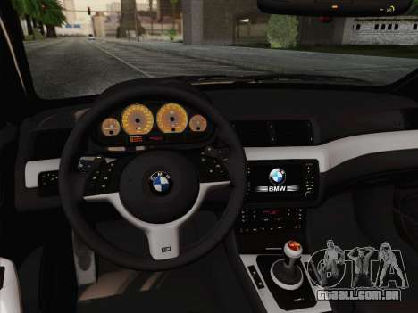 BMW M3 E46 2005 para vista lateral GTA San Andreas
