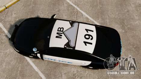 Ford Taurus Police Interceptor 2013 [ELS] para GTA 4 vista direita