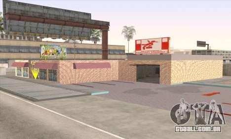 Loja De Alimentos Saudáveis para GTA San Andreas por diante tela