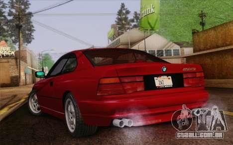 BMW 850CSi E31 1996 para GTA San Andreas esquerda vista