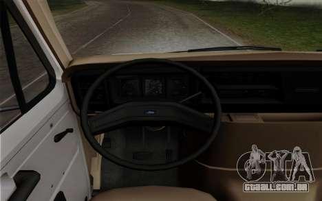 Ford E-350 1982 para GTA San Andreas traseira esquerda vista