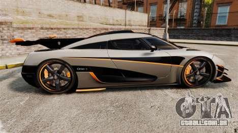 Koenigsegg One:1 [EPM] para GTA 4 esquerda vista