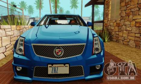 Cadillac CTS-V Sedan 2009-2014 para GTA San Andreas vista superior