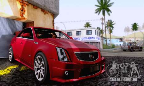 Cadillac CTS-V Sedan 2009-2014 para vista lateral GTA San Andreas
