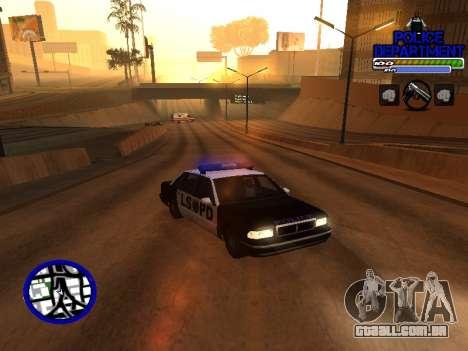 С-Hud Do Departamento De Polícia De para GTA San Andreas segunda tela