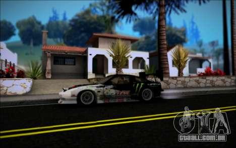 Nissan 240SX Monster Energy para GTA San Andreas vista direita
