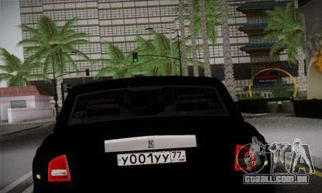 Rolls-Royce Phantom para GTA San Andreas vista traseira