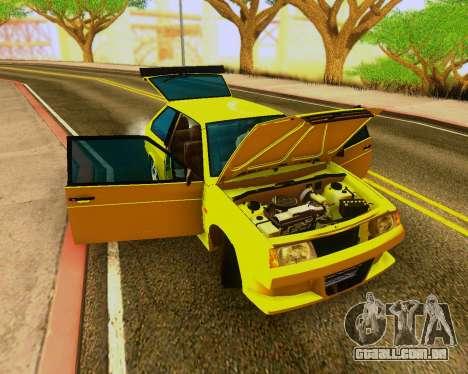 VAZ 2108 Tuneable para GTA San Andreas vista traseira